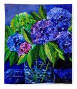 Hydrangeas 88 Fleece Blanket