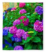 Hydrangeas Fleece Blanket