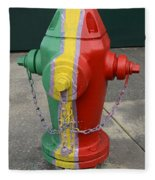 Hydrant With A Facelift Fleece Blanket