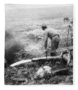 Hydraulic Gold Mining C. 1889 - S. Dakota Fleece Blanket