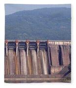 Hydroelectric Power Plants On River Fleece Blanket