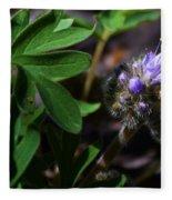 Hydrophyllum Capitatum Fleece Blanket