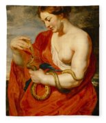 Hygeia - Goddess Of Health Fleece Blanket