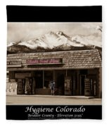 Hygiene Colorado Bw Fine Art Photography Print Fleece Blanket
