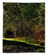 Hylebos In Autumn Fleece Blanket