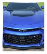 Hyper Blue Metallic 2017 Chevrolet Camaro Zl1 Fleece Blanket