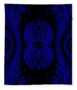 Hyper Tidal Blue Fleece Blanket