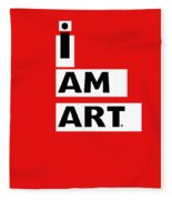 I Am Art Stripes- Design By Linda Woods Fleece Blanket