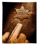 I Am The Law - Sepia Fleece Blanket