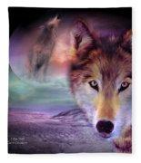 I Am Wolf Fleece Blanket