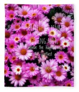 I Believe In Pink Daisies Fleece Blanket