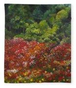 I Dream Of Poppies Fleece Blanket