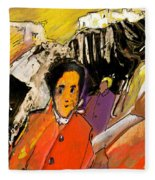 I Dreamt Of Oscar Wilde Fleece Blanket