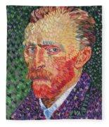 I Heart Van Gogh Portrait Of Vincent Fleece Blanket