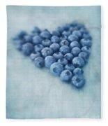 I Love Blueberries Fleece Blanket