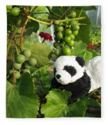 I Love Grapes Says The Panda Fleece Blanket
