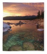 I Love Lake Tahoe Fleece Blanket