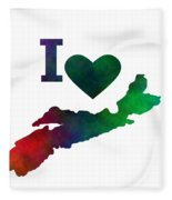 I Love Nova Scotia - Canada Fleece Blanket