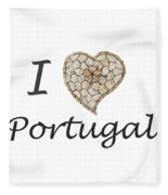 I Love Portugal Fleece Blanket