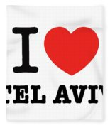 i love Tel Aviv Fleece Blanket
