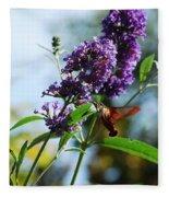 I Love The Purple Ones Fleece Blanket