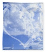 I Love You To The Clouds And Back Fleece Blanket