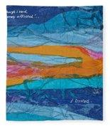 I Trusted - Psalm 116-10 Fleece Blanket