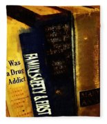 I Was A Drug Addict And Other Great Literature Fleece Blanket