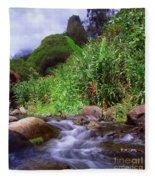 Maui Hawaii Iao Valley State Park Fleece Blanket