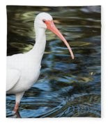 Ibis In The Swamp Fleece Blanket