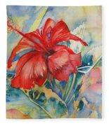 Ibiscus Fleece Blanket