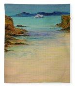 Ibiza In The Distance.... Fleece Blanket