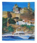 Ibiza Town  Fleece Blanket