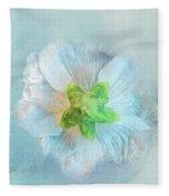 Ice Blue Under Fleece Blanket
