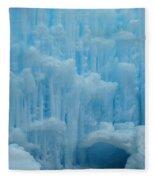 Ice Castles In Lincoln New Hampshire -2 Fleece Blanket