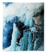 Ice Climb Fleece Blanket