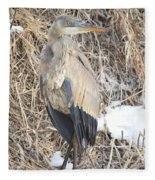 Ice Cold Heron Fleece Blanket
