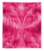 Ice Crystal Angel - Pink Fleece Blanket