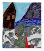 Ice Fishing Fleece Blanket
