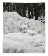 Ice Formations At Garwin Falls Fleece Blanket