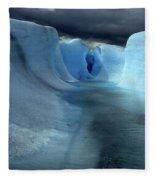 Ice Formations On Grey Glacier Chile Fleece Blanket