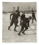 Ice Hockey 1912 Fleece Blanket