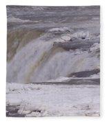 Ice Over The Falls Fleece Blanket