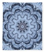 Ice Patterns Snowflake Fleece Blanket