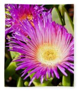 Ice Plant Blossom Fleece Blanket
