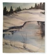 Ice Pond Fleece Blanket