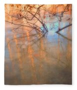 Ice Reflections 2 Fleece Blanket