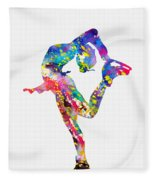 Ice Skater-colorful Fleece Blanket