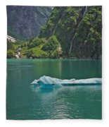 Ice Tracy Arm Alaska Fleece Blanket