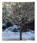 Ice Tree Fleece Blanket